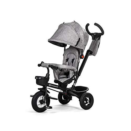 Kinderkraft Dreirad AVEO 6 in 1 Kinderdreirad Kinderlaufrad Jogger mit Zubehör Klappbar ab 9 Monate bis 5 Jahre, grau -