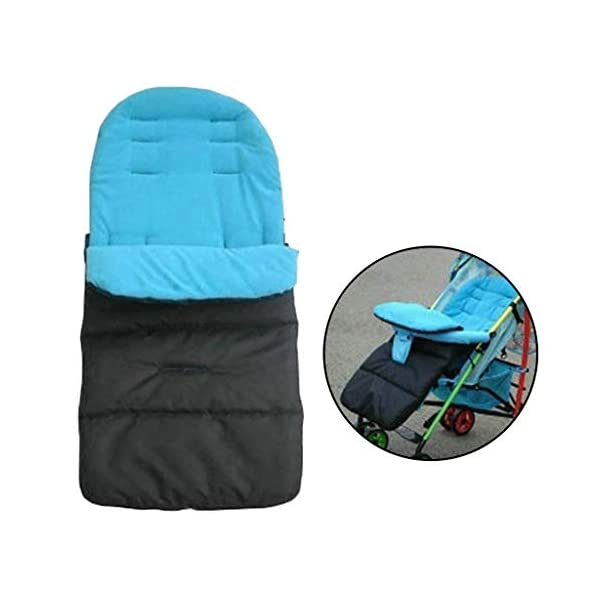 DENGHENG Multi-Function Baby Stroller Sleeping Bag Children Kids Trolley Thickened Swaddl DENGHENG ❤ Baby carriage sleeping bag, Multi-functional universal stroller sleeping bag. ❤ Made of high quality oxford and fleece, it is warm, windproof and waterproof. ❤ Removable, easy to clean, adjustable, adjust the position according to your baby's length. 7