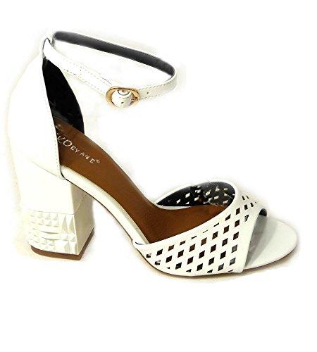 SKOS , Sandales pour femme White (26583-11)