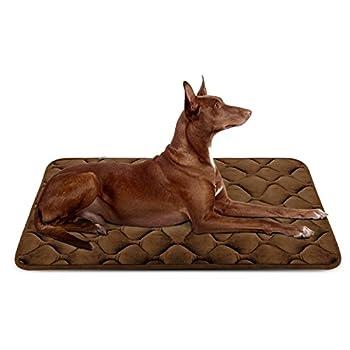 Panier Doux pour Chien, Lit Coussin de Luxe et Durable 107x70 cm, Tapis Antidérapant et Lavable de Chien Hero Dog (Brun, Grande Taille)