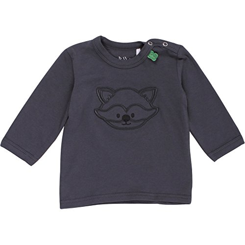 Fred'S World By Green Cotton Raccoon Front l/SL T Baby, T-Shirt Mixte bébé, Gris (Ink 019401901), 3 Mois