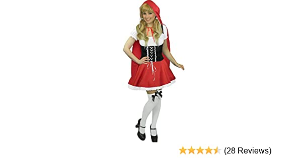 Red Riding Hood Donna Costume Fairytale World Book Day Costume Adulto Da Donna