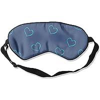 Comfortable Sleep Eyes Masks Blue Hearts Pattern Sleeping Mask For Travelling, Night Noon Nap, Mediation Or Yoga preisvergleich bei billige-tabletten.eu