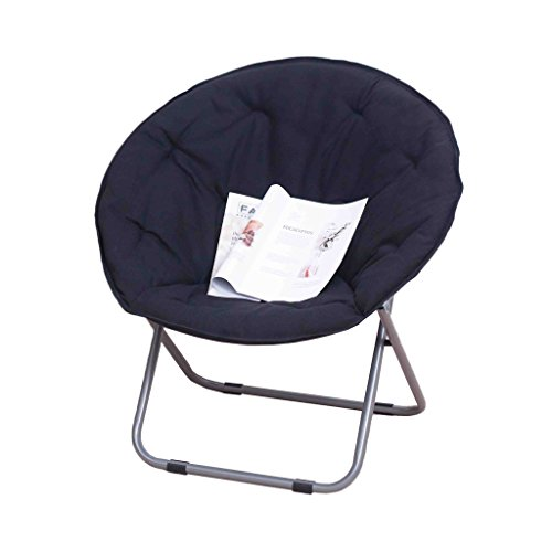 Schaukeln Moon Chair Sonnenliege Lazy Chair Radar Stuhl Recliner Klappstuhl Runder Stuhl Sofa Chair (Farbe : SCHWARZ)