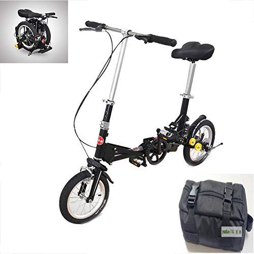 LYGID Mini City Bike Faltrad 14 Zoll Folding City Bike Unisex 13 kg Mit Aufbewahrungstasche Rahmen aus Kohlenstoffstahl