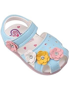HCFKJ Los NiñOs De Verano Sandalias De Moda Grandes Flores De Las NiñAs Plana Pricness Zapatos