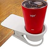 HOLLIHI Drink Cup Holder Clip - Table Desk Side Water Glass Beer Bottle Tumbler...