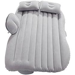 Vitesky Matelas gonflable de voiture, pour banquette arrière - Idéal comme lit, avec pompe - Couleur aléatoire gris