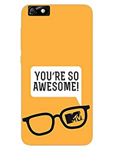 Huawei Honor 4X Back Cover - MTV Gone Case - You Are So Awesome - Yellow - Designer Printed Hard Shell Case
