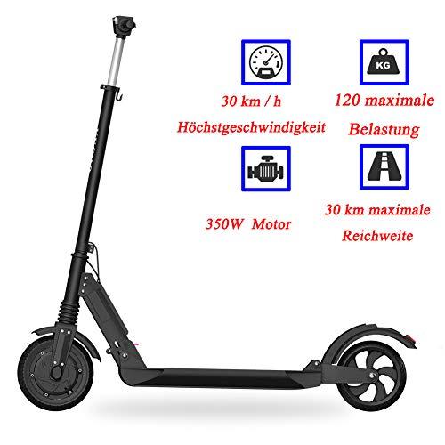 SEVECOOL Elektro Scooter 350 Watt Motor, 30 km Langstreckenbatterie, 8 Zoll aufblasbares Wabenrad, LCD-Display, City E Scooter S1, Faltbar und Tragbar Elektroroller Erwachsene und Kinder