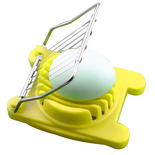 aquiver Eierschneider Cutter Edelstahl einfach cutter Küche gekochte Eier gelb