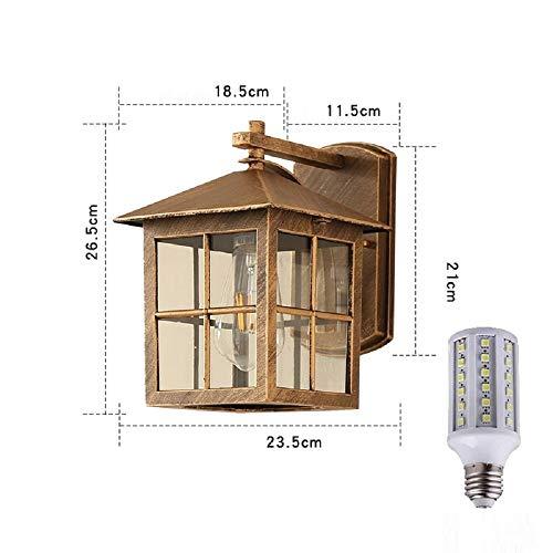 Lámpara De Pared Interior/Exterior Impermeable Estilo Country Americano Salón Pasillo 20W Luz...