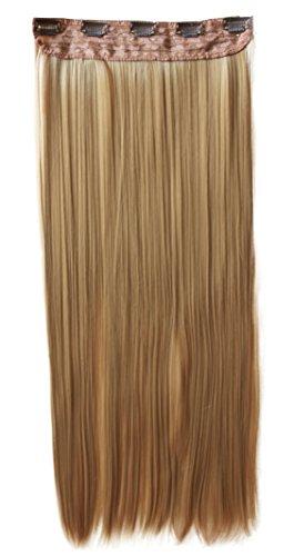 Prettyshop xxl 5 clips one piece di clip in extension parrucche dei capelli lisci a pelo lungo 70 cm di miele biondo # 27 c65