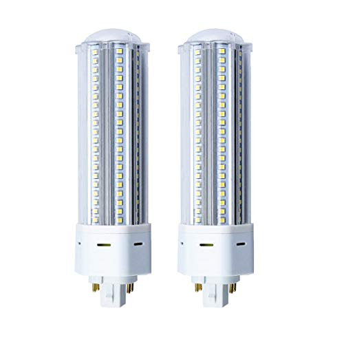 Lustaled GX24Q LED Sockel Kompaktleuchtstofflampe 22W 2200 lumen Warmweiß 3000K AC85-265v 360°Abstrahlwinkel 140pcs Super Helligkeit (nicht dimmbar 2Stück) -