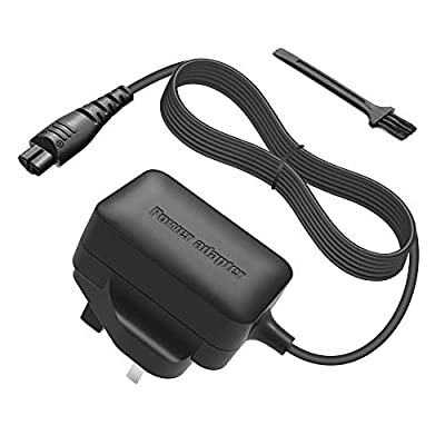 BERLS AC Adapter 5 Feet Power Cord Replacement Remington Electric Shaver Razor Charger Cord for Remington Trimmer PR1235, F4900, PF7200, F-3790, FF-400, R-305, R-4110, R-4130, R-4150 Power Supply by BERLS