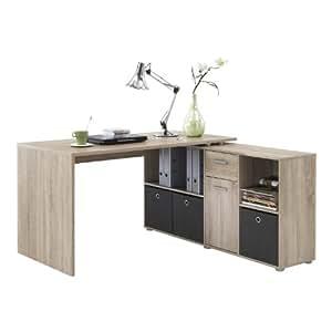 fmd 353 001 ei lex bureau angulaire r versible avec quatre compartiments ouverts et porte tiroir. Black Bedroom Furniture Sets. Home Design Ideas
