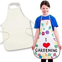 Baker Ross Fabric Apron For Children to Design Paint & Embellish (Pack of 2)