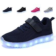 low cost f8149 dc5ad adituob Kinder LED Schuhe - Licht Auf Casual Schuhen Mode Atmungsaktives  Mesh Blinkende Turnschuhe Ausbilder Outdoor