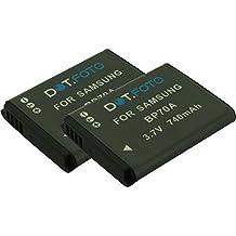 2 x Samsung BP70A PREMIUM Dot.Foto Batteria sostituitiva - 3.7V/740mAh - Garanzia: 24 Mesi [Vedere la descrizione per la compatibilità]