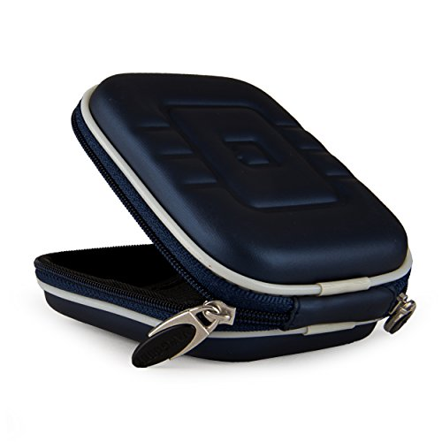 VangoddyTM Blue VG EVA Travel Carrying Camera Case with Carbineer for Samsung TL350 TL210 TL205 TL240 TL225 WB2000 PL150 PL100 ST5000 ST550 Point & Shoot Digital Cameras + Universal Screen Protector + SumacLife TM Wisdom Courage Wristband  available at amazon for Rs.1743