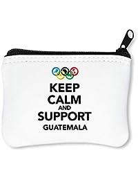 Keep Calm Support Guatemala Billetera con Cremallera Monedero Caratera