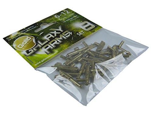 (GALAXYARMS 16-teiliges Waffenset: Set 8 mit verschiedenen Blastern und Gewehren. GOLD EDITION. Geeignet für Deine LEGO Minifiguren-Armee. NEUHEIT!)