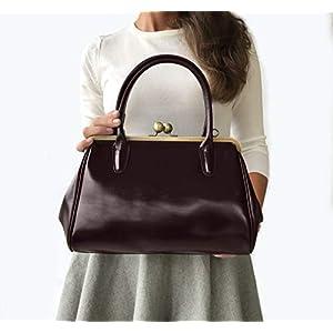 """Ledertasche/Leder Handtasche""""Sophie"""" in dunkel braun, im Vintage Style"""