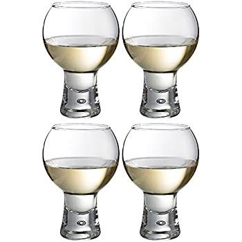 Set Of 4 41cl Thick Stem Modern Wine Glasses