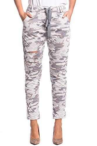 Abbino 2810A-9 Jogging Pantaloni Donne Ragazze – Made in Italy – 3 Colori – Mezza Stagione Primavera Estate Autunno Pants Fitness Sport Ginnastica Tute Palestra Running Corsa Slim Fit Casual