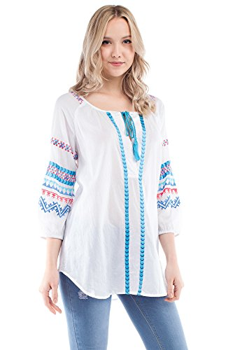 Solitaire Embroidered Tunic (small) Jersey Knit Halter Top
