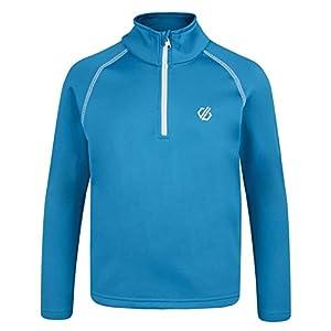 Dare 2b Kinder Dehnbare Mittelschicht Consist Core Stretch Warm Backed Knitted Quick Drying Half Zip Fleece