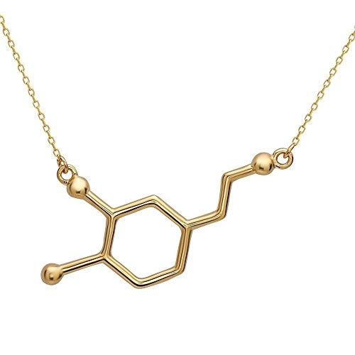 änger Halskette mit Silbertönung by Serebra Jewelry (Gold) (Nerd Outfits Für Männer)