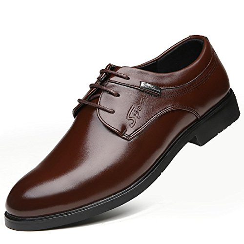 Hommes Chaussures en cuir Rétro Respirant Mode Loisir Accueil Chaussures d'outillage Brown