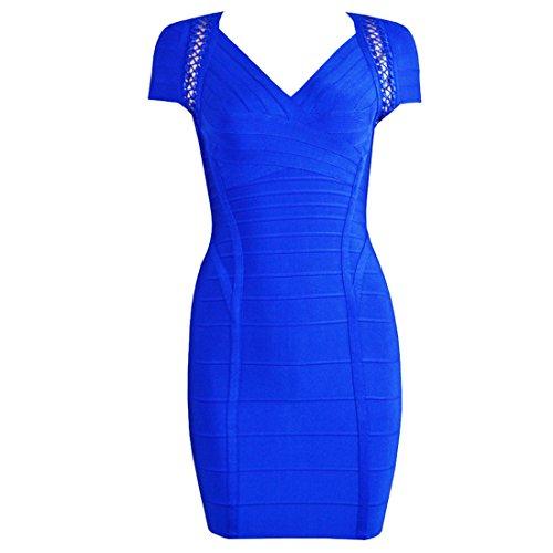 HLBCBG Damen Kleid grün grün 36 Blau