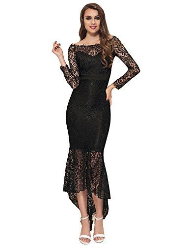 ohyeahlady Damen Cocktail Kleid Retro Spizen Schwingen Fishtail Swing Kleider Celebrity Kleid...