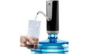 Automatic Drinking Water Dispenser Pump - Compact Portable for 20 Litre Can BPA Free FDA Approved & Electric Rechargable Li-ion Battery - for Office, Home, Kitchen - Pluto