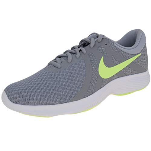 Nike Herren Revolution 4 EU Laufschuhe, Mehrfarbig (Wolf Grey/Lime Blast/Cool Grey/White 016), 46 EU