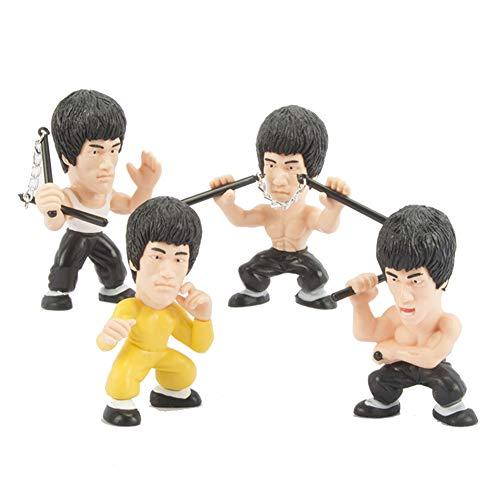 lqw0kk41 4 Stücke Mini Simulation Bruce Lee Nunchucks Kung Fu Modell Spielzeug Kinder Kinder Geschenk-Zufällige Farbe Zufällige Art ()