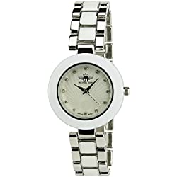 Women's Watch MICHAEL JOHN Silver Quartz Steel Case Analogue Display Steel Band White Silver