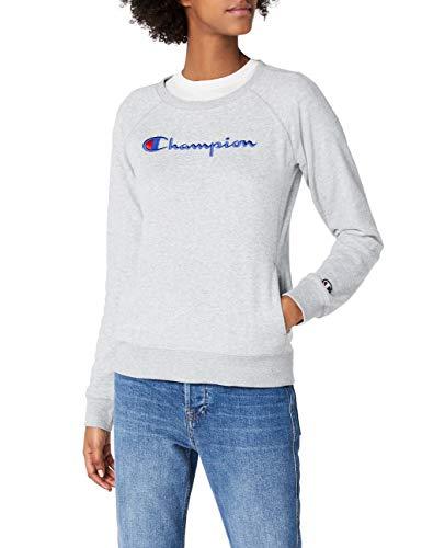 Champion Damen Classic Logo Sweatshirt, Grau, L -