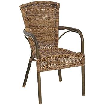 greemotion Chaise de jardin bistrot Laos marron - Chaise de jardin ...