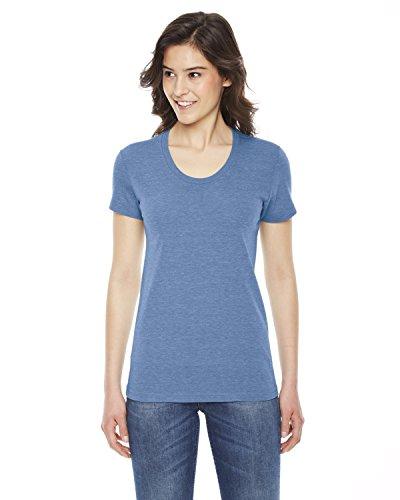 Ladies' Triblend Short-Sleeve Track T-Shirt ATHLETIC BLUE L (American Apparel-track Shirt)