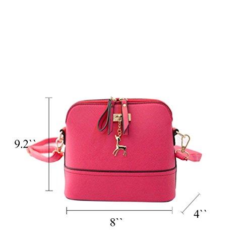 Honeymall donne di stampa della borsa a tracolla in pelle Bauletto Messenger piccolo Borsa Crossbody di moda Blu Rosa
