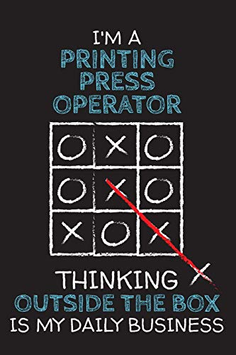 OPERATOR: Thinking Outside The Box - Blank Dotted Job Customized Notebook. Funny Profession Accessories. Office Supplies, Work ... Retirement, Birthday & Christmas Gift. ()