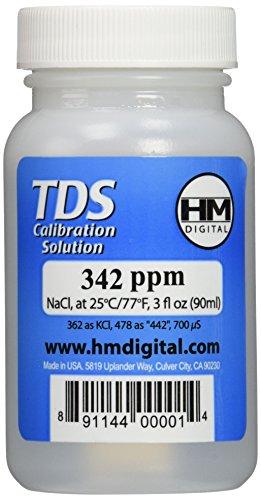 HM Digital Solución de calibración TDS 342 ppm (90ml) -