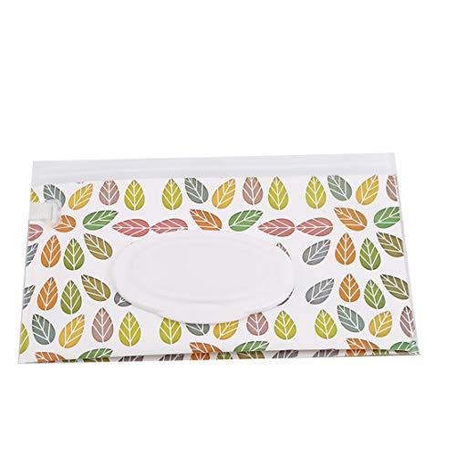 YSINFOD Feuchtpflegetasche Niedlichen Cartoon Blätter Muster Feuchttücher Aufbewahrungsbox Reisen Im Freien Feuchttücher Box Kinderwagen Windel Tasche