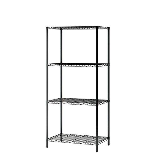 Home-Like 4-Tier Wire Shelving Einheit Starke und dauerhafte Storage Rack für multifunktionale Organisation Schwarze Farbe53.5x35x118cm - 4-tier-rack-einheiten