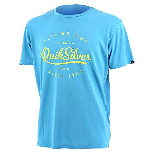 Quiksilver-SHD Scripted Roy mctee Jr-Tee Shirt Maniche Corte, blu, 8 anni