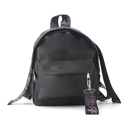 Dairyshop zaino donna Borsa a tracolla da viaggio zaino donna Fashion Bags Students Satchel (Argento) Nero