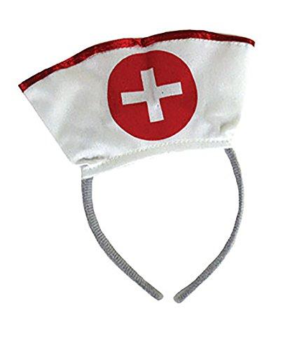 Karnevalsbud - Kostüm Tiara - Krankenschwester Haarreifen Kopfbedeckung, (Nurse Halloween Naughty)